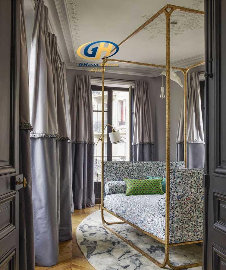 استفاده از پرده در دکور اتاق خواب ، قصر چوب ، چیدانه