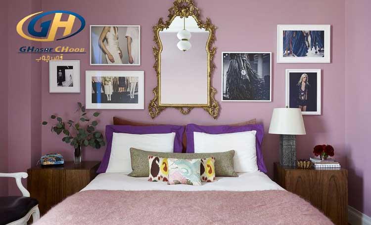 قاب عکس در اتاق خواب ، عکس خانوادگی در دکور اتاق