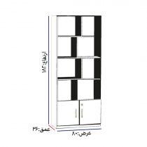 قفسه کتابخانه مدل پازلی کد k-2005